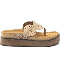 sandalia beige albany