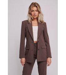 selma omari x na-kd oversize blazer - brown