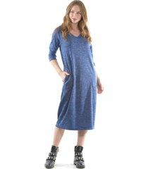 vestido lanilla azul bous