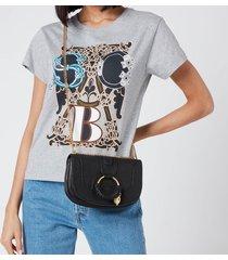 see by chloé women's hana chain shoulder bag - black