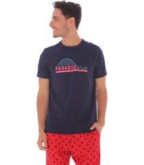 camiseta swimwear azul - hombre