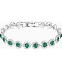 braccialetto angelic, verde, placcatura rodio