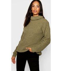 tall roll neck sweater, khaki
