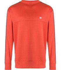 ami bicolor crew neck sweatshirt - red