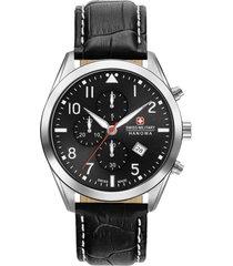 reloj casual negro swiss military