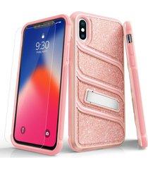 estuche protector zizo bolt x iphone x/xs - rosa brillante