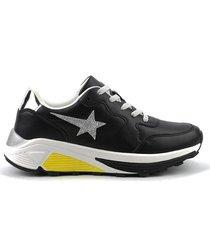 zapatilla negra xl extra large star