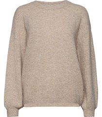 anghacr oz knit pullover stickad tröja creme cream