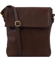 tuscany leather tl141511 morgan - borsa a tracolla in pelle testa di moro