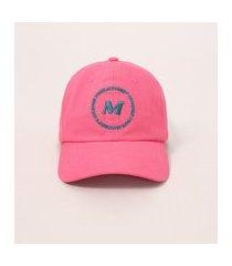 "boné feminino aba curva com bordado change your mindset"" pink"""