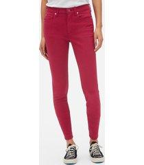 jeans true skinny color mujer rojo gap