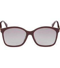 fendi women's 57mm square sunglasses - burgundy