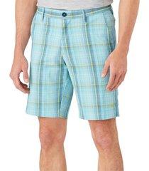 "tommy bahama men's sea sport islandzone moisture-wicking performance stretch plaid 10"" shorts"