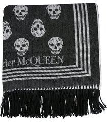 alexander mcqueen scarf with skull