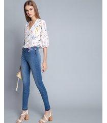 calça jeans com elastano jegging jeans - lez a lez