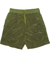 stone island shadow project olive green shorts