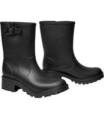botas de lluvia impermeables michelle caña media mujer negro
