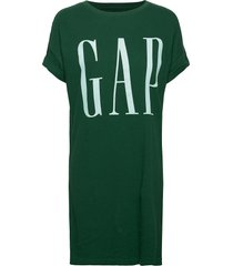 gap exp tee dress kort klänning grön gap