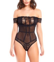 icollection women's elegant stretch lace day and night bodysuit, online only