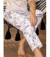 chamela 27429 - pantalón de dormir para mujer estampado