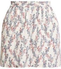 bcbgmaxazria floral-print woven shorts