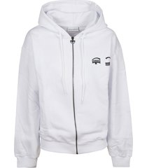 chiara ferragni zip small eye hoodie