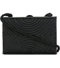 chanel pre-owned 1997-1999 beaded shoulder bag - black