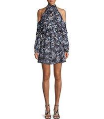 cold-shoulder shift dress
