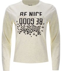 camiseta mujer be good color beige, talla l
