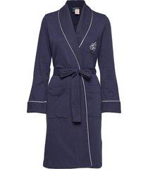 lrl essential quilted collar robe morgonrock blå lauren ralph lauren homewear