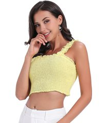 crop top elasticado amarillo nicopoly