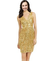 lemai v neck sequined short prom cocktail bridesmaid dresses plus size gold u...