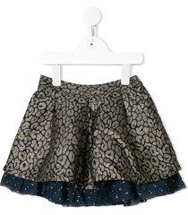 billieblush leopard-print tulle skirt - gold