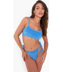 badstoffen bikini top met bandjes, blue