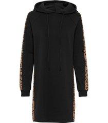 abito in felpa con stampa leopardata (nero) - rainbow