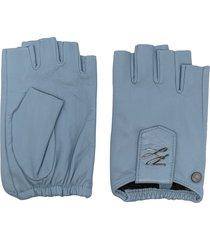 karl lagerfeld k/autograph fingerless gloves - blue