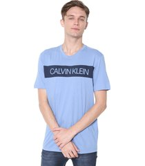 camiseta calvin klein underwear lettering azul
