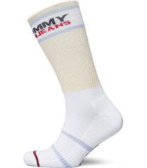 th unisex tommy jeans sock 1p melan lingerie socks regular socks vit tommy hilfiger