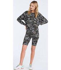 lou & grey sundry camo bike shorts