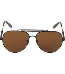 59mm browline aviator sunglasses