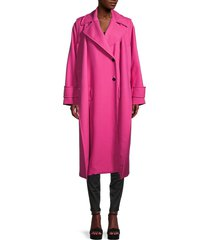 valentino women's 2-in-1 virgin wool-blend trench coat - pink orchid - size 4