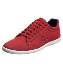 sapatênis sapato casual arietto basico vermelho
