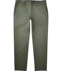 river island mens green slim fit chino pants