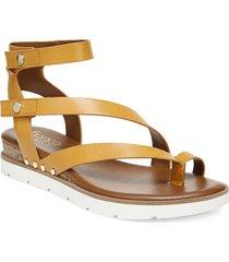 women's franco sarto daven sandal, size 10 w - yellow