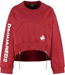 dsquared2 cotton crew-neck sweatshirt