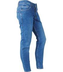 catch heren jeans white wash stretch lengte 32 denim blauw