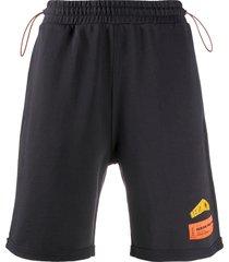 heron preston fleece shorts - black
