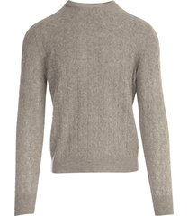 ballantyne wool crew neck pullover w/braid