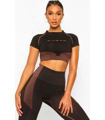 fit woman naadloos contour shirt, black