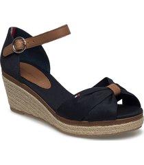 elba 40d* sandalette med klack espadrilles blå tommy hilfiger